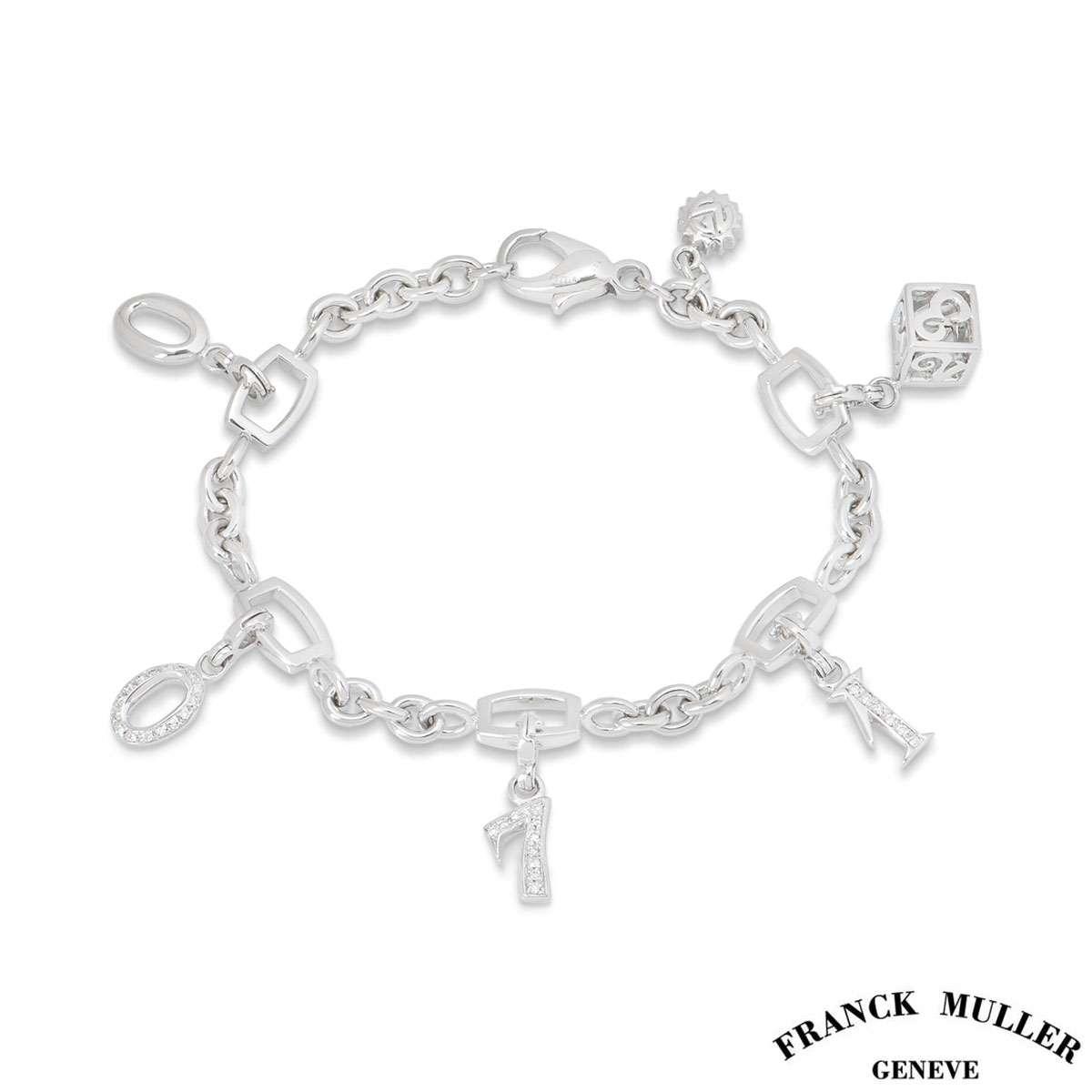 Franck Muller 18k White Gold Charm Bracelet